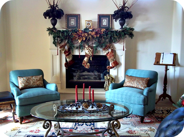 Christmas In the Brick Room Mantel  {Inspiration Affirmation}
