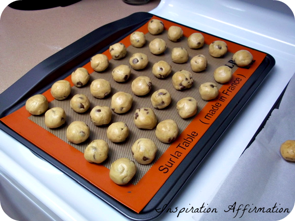 Chocolate Chip Cookie Dough Balls  {Inspiration Affirmation}