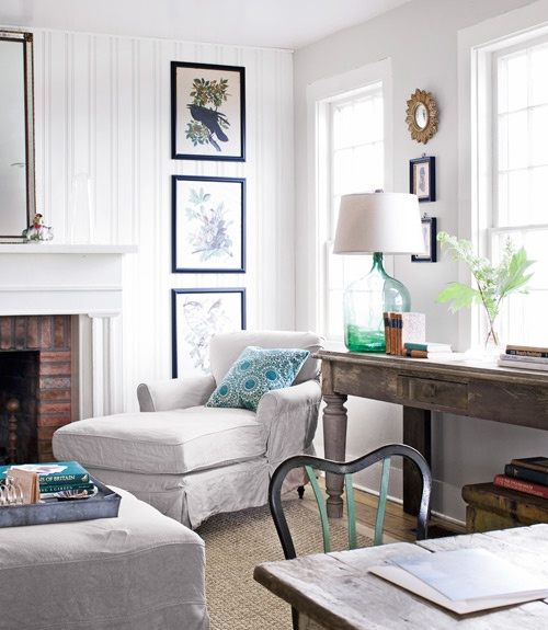 Room Translation: Beachy Living Room  {Inspiration Affirmation}