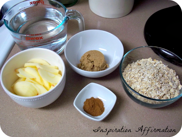 Crock Pot Apple Cinnamon Oatmeal  {Inspiration Affirmation}